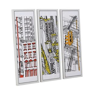 miaVILLA Bilder-Set Colorful New York – 3er Set – Leinwanddruck – Gerahmt