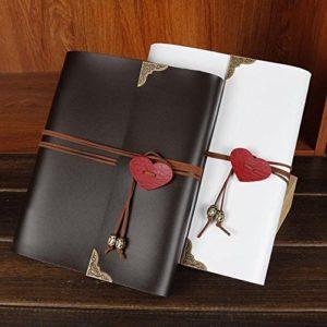 Xiduobao Sammelalbum, Fotoalbum im Vintage-Look, mit Herz-Anhänger, handgeferigt, für Hochzeit, zum Basteln, oder als besonderes Geschenk.
