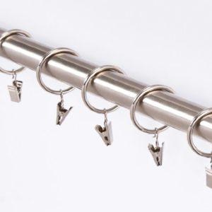 10 Stück Gardinenringe mit Klammern in 3 Farben-für Stangen von 25 mm