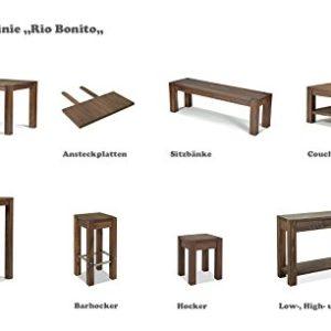 2er Set Hocker 35x35cm Rio Bonito Farbton Cognac braun Sitzhöhe 45cm Pinie Massivholz Stuhl Sitzhocker Blumenhocker…