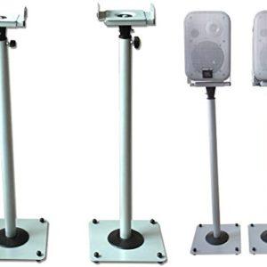 DRALL INSTRUMENTS 2 Stück Boxenständer aus Metall Lautsprecherständer Box Lautsprecher höhenverstellbar mit Kabelkanal…