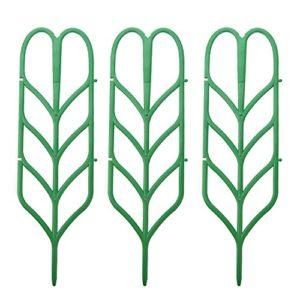 3 stücke Mini DIY Blattform Garten Spalier Pflanzen Gitter Töpfe Unterstützt für Kletterpflanzen Topf Reben Ivy Gurken