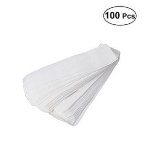 BESTONZON 100pcs 9cm Greaseproof Nahrungsmittelbeutel-handliche Tasche Hot Dog Sandwish Takeout-Tasche (weiß)