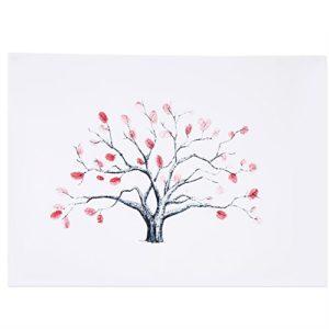 4 Arten Fingerabdruck Baum kundenspezifisches Hochzeits Gästebuch Hochzeits Gästebuch Plakat mit 6 Farben Tinte