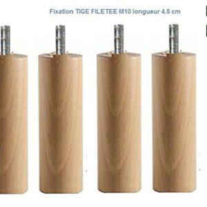 Wood Selection 4Füße Bett lackiert, Höhe 30cm (Schaft spezielle M10Lange 4,5cm)