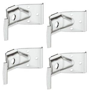 4 Stück – Winkelbeschlag Zargenverbinder Tischbeinbeschlag für Tische & Bänke | Höhe 40 mm | Stahl verzinkt | Winkelverbinder für eine stabile Konstruktion | Möbelbeschläge von GedoTec®