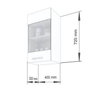 """ELDORADO-MÖBEL 40 cm Hängeschrank für die Küche Martha"""" 2004 (Cream-lackiert)"""