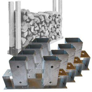 4x Holzstapelhalter Metall für Brennholz-Regal Stapelhilfe Kaminholz von Gartenpirat