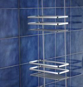 Satina, Hängeablage aus Chrom für die Duschecke, hygienisch, in Schweden hergestellt, 79 cm, von Norwood