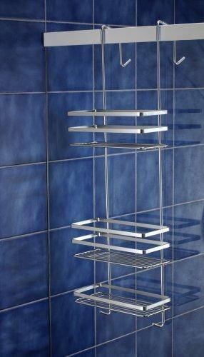587-90 Duschregal Badregal Hängeregal 3 Etagen ohne Bohren Duschablage Duschkorb