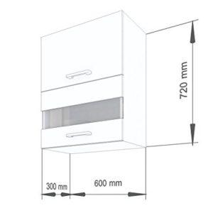 """ELDORADO-MÖBEL 60 cm Hängeschrank für die Küche Alina"""" (1000) (Wenge)"""
