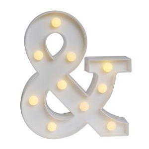 AIZESI 26 Englische Brief Lampe Symbol Modellierung Lampe Hochzeit Nacht Licht Geburtstag Ehe Vorschlag Lampe