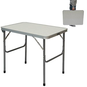 AMANKA Campingtisch aus Aluminium Klapptisch 70x50x60 cm Stahlrahmen Widerstandsfähiger MDF-Tischplatte praktisches Kofferformat