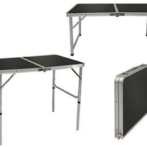 AMANKA Alu Campingtisch 90x60cm – Klapptisch Picknicktisch Leichter Falttisch höhenverstallbar