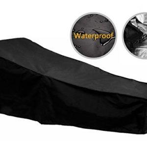 F Fellie Cover Outdoor Lounge Stuhlbezug Wasserdichter Sonnenschutzbezug für Lounge Chair 210 * 75 * 80/40 cm Schwarz