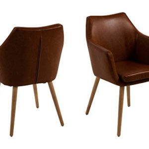 AC Design Furniture Bürostuhl Trine, B: 58 x T:58 x H: 95 cm, Metall, Braun