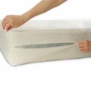 Allersoft Bettwanzen-, Staubmilben- & Allergiekontroll-Matratzenschutzumhüllung aus 100 Prozent Baumwolle, 70 x 140 x 10 cm