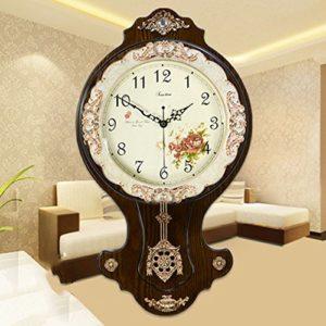 Andea Antik Wohnzimmer Massivholz Wanduhr Jardin Simple Mode Quarz Uhr Creative Große Schaukel Clock Einfach C