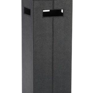 Andrea AX12212 Schirmständer, Lederoptik, 21 x 21 x 55, schwarz