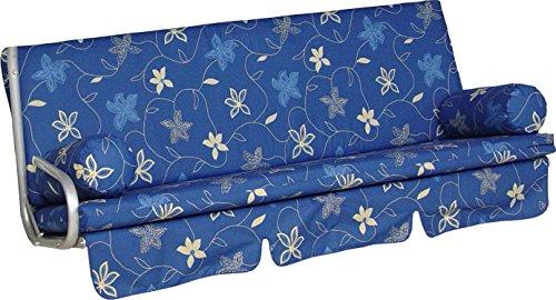 Angerer Trend Schaukelauflage Korfu, Blau, 3-Sitzer