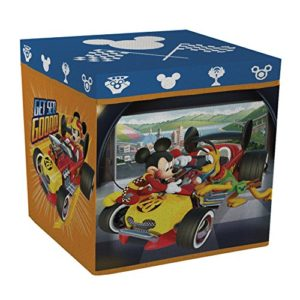 Arditex wd11622 – Hocker Box, 30 x 30 x 30 cm, Motiv Mickey Roadster Racers