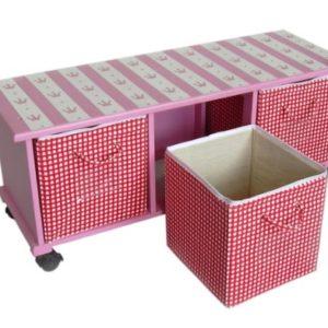 Artra Rollregal Prinzessin Trixi Sitzbank Aufbewahrungsbox Aufbewahrungskörbe Kindermöbel Rollregal Kinderregal