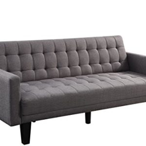 Atlantic Home Collection Sofa mit Schlaffunktion Schlafsofa, Stoff, Grau, 204 x 86 x 84 cm