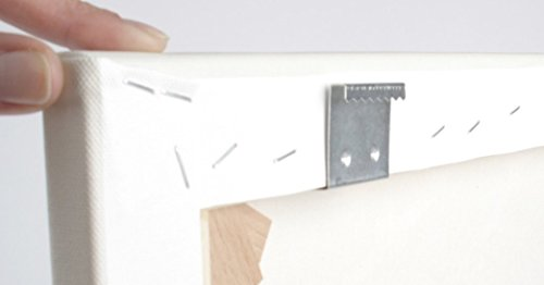 Aufhänger für Keilrahmen, 16 mm Dicke. 10er Set. Zackenaufhänger für Leinwanddrucke, Holzrahmen. rostfreie Bildaufhänger, Aufhänger für Bilder und Fotos auf Leinwand