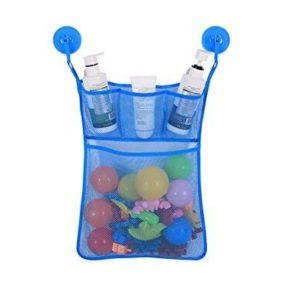 Baby Badewanne Spielzeug Aufbewahrungstasche Tasche Badespielzeug Netz Organizer Ordentlich Toys Mesh Beutel Mit 2 Saugwirkung Haken