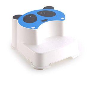 Baby Badezimmerhocker Doppelstufen Schemel Panda Muster Kinder Tritthocker Perfekt für Kinder-Badezimmer/Kleinkind Toiletten Training Anti-Rutsch