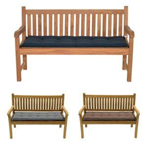 habeig Bankauflage Bankkissen Gartenbank Sitzkissen Kissen Auflage Palettenkissen 150×6 (120 x 50 cm, Anthrazit)