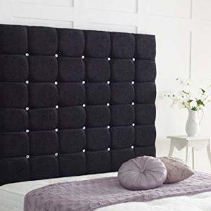 Bedcouture Cube Chenille Hohe Mauer Panel Kopfteil wählen Sie Farbe & Größe 91,4cm, Blac, 122 cm