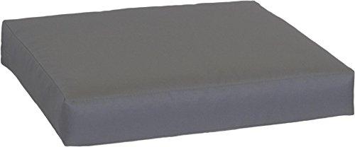 Beo LKP 80x60PY202 Loungekissen Sofakissen Palettenkissen mit Reissverschluss und wasserabweisendem Stoff, anthrazit, 80 x 60 cm