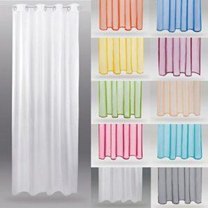 Bestlivings Transparenter Dekoschal b 140 x l 245 cm Ösenschal Voile, Elegantes und Stilvolles Wohnaccessoire in Vielen Verschiedenen Farben erhältlich