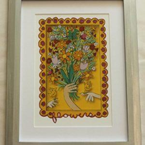Bild James Rizzi FLOWERS mit Rahmen