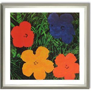 Bild Kunstdruck Andy Warhol Flowers Pop Art mit Rahmen 71 x 71 cm ++SALE++