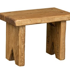 Biscottini panchetto aus massivem Lindenholz Natur lackiert L28 x PR15 X H20 cm Made in Italy