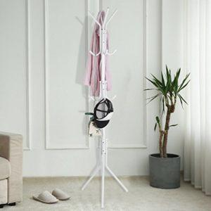 Blackpoolal 12 Haken Metall Garderobenständer Stabil Kleiderständer Garderobe Jackenständer für Garderobe Flur Foyer…