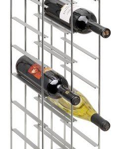 Pilare Weinregal H 66cm, schwarz matt BxHxT 19x66x22cm für 12 Flaschen