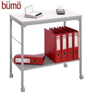 BÜMÖ Rollwagen | Bürowagen für Ordner & Ablagen | Mehrzwecktisch auf Rollen | Rollschrank für Aktenordner