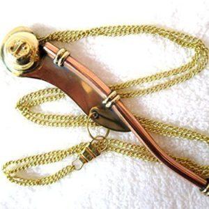 Bootsmannspfeife aus Messing 13cm NEU mit Kette und Anleitung