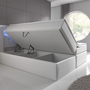 Wohnen-Luxus Boxspringbett mit Bettkasten LED Kopflicht Hotelbett Venedig Lift