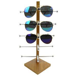 Brillenständer, Likeluk Brillenregal für 5 Paar Brillen Organizer Sonnenbrillenablage,30×20×16CM