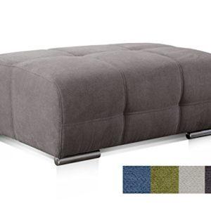 Cavadore Polsterhocker Mistrel mit Steppung / Sofa-Hocker / Sitzhocker / Passend für Polstermöbel Mistrel / Maße: 109 x 42 x 73 (B x H x T)