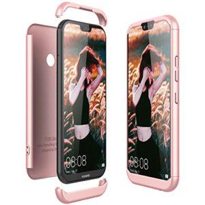 Huawei P20 Lite Hülle, CE-Link Hardcase 3 in 1 Handyhülle Ultra Dünn 360 Grad Full Body Schutz Backcover Schutzhülle Anti-Kratzer Bumper – Rose Gold