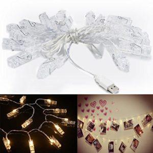 chrislz Foto Clip Lichterkette 100 Foto Clips 10 m LED Bild Licht Weihnachten Beleuchtung Starry Licht Wand Hochzeit…