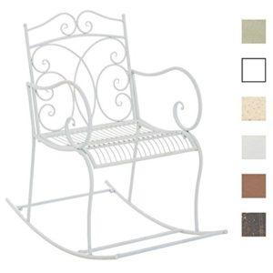 CLP Eisen-Schaukelstuhl Edith im Landhausstil I Schwingstuhl mit hoher Rückenlehne I erhältlich, Farbe:Bronze