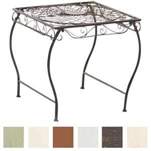 CLP Eisentisch Zarina Design I Robuster Gartentisch mit kunstvollen Verzierungen, Farbe:Bronze