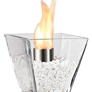 Carlo Milano Bioethanol Tischkamine: Glas-Dekofeuer Agadir für Bio-Ethanol (Mini Dekofeuer)