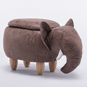 Cartoon Elephant Kleine Hocker Halle Ändern Schuhe Hocker Originalität Sofa Hocker Lagerung Hocker (Color : Grey)